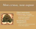 Губайдулина-моя семья мои корни